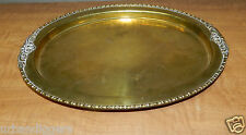 9134/ Vintage Ornate Deco BRASS  SERVING TRAY ~ Scrolled