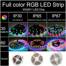 WS2811 5050 RGB Dream Color 5M 16.4Ft LED Strip Light 12V Individual Addressable