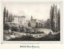 Oppurg-castillo oppurg-Saxonia-arldt-litografía 1839