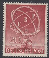 BERLIN(Germany) : 1950 European Recovery Programme 20pf SG B71 never-hinged mint