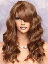 Human Hair Blend Long Auburn Blonde mix Wavy HEAT SAFE Wig w. bangs MAR 30-27