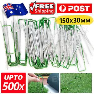 Primeturf Synthetic Artificial Grass Pins Fake Lawn Turf Weed Mat U Pegs Weedmat