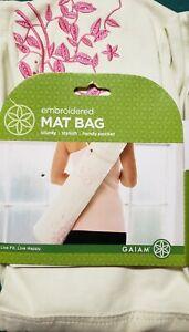 Gaiam Embroidered Yoga Mat Shoulder Bag New
