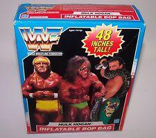 """WWF World Wrestling Federation Hulk Hogan 48"""" Inflatable Bop Bag NIB 1990"""