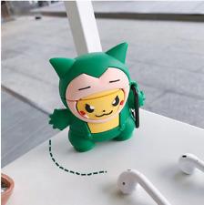 Pokemon Pikachu Snorlax Apple Airpod Earphone Earpod Case 1 & 2 compatible Cute