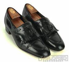 BRUNO MAGLI Black Leather Kiltie Fringe Tassel Loafer Mens Dress Shoes - 12
