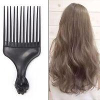 Salon de coiffure en plastique Curly coiffeur peigne large dent Pick peignes *tr