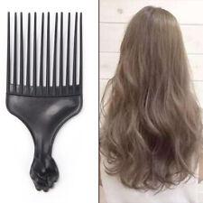 Salon de coiffure en plastique Curly coiffeur peigne large dent Pick peignes