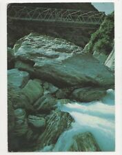 Gates Of Haast Bridge Postcard New Zealand 582a