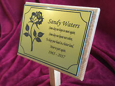 Large 310mm x 145mm Oak Memorial Grave Tree Marker Personalised & Made to Order