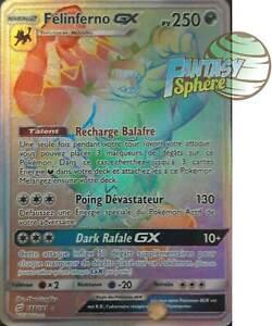Pokemon 188/181 Félinferno GX Hyper Rare SL9 Soleil Lune 9 Duo de Choc VF França
