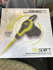 SMS Audio BRANDNEU Bio Sport Knopfhörer Kopfhörer Herzmonitor gelb in Box