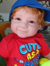 """Reborn 22"""" Toddler Boy Doll """"Logan""""--Bug Safari"""