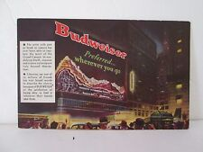 1940s Budweiser Beer Giant Naturama Sign Times Square Broadway & 43rd St. NYC NY