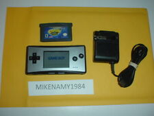 BLACK GAME BOY MICRO OXY-001 hand-held system complete w/ CRASH BANDICOOT game