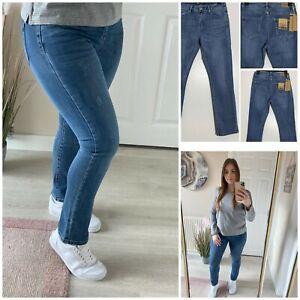 Toxik 3 Super Stretch Straight Leg Blue Denim Jeans Size  6 - 14 (hs-15p)