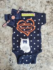 Bears newborn/baby clothes girl Bears baby shower girl Chicago baby girl clothes