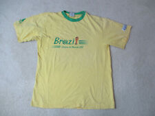 VINTAGE Adidas Brazil Shirt Adult Extra Large Yellow 1998 World Cup Soccer 90s *