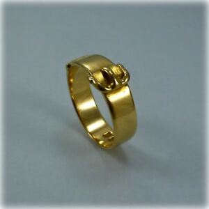 Vintage 18ct Gold Buckle Ring, hallmarked London 1933