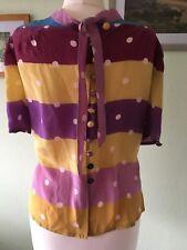Seidener Bluse von Jill Stuart, Gr. S, angegeb.(2), mehrfarbig, neu ohne Etikett
