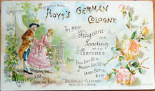 Victorian Trade Card: Couple in Garden, Perfume, Hoyt's Cologne - Lowell, MA
