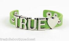 "BCBGENERATION WOMEN'S ""TRUE"" AFFIRMATION BRACELET, GREEN"