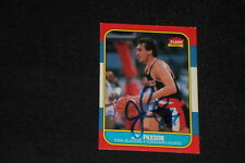JIM PAXSON 1986-87 FLEER SIGNED AUTOGRAPHED CARD #85 BLAZERS