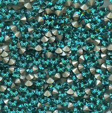 1028 SS18 Z *** 30 strass Swarovski fond conique 4,3mm BLUE ZIRCON F