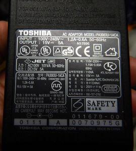 Toshiba  PA3083U-1ACA - Laptop AC Adapter Charger sub PA3283U-5ACA PA3215U-1ACA