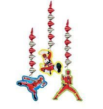 POWER RANGERS HANGING PARTY DECORATIONS Birthday Child Boys Ceiling Ninja NEW