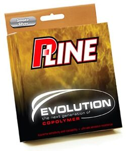 P-Line Evolution Copolymer Fishing Line 4# 300yd Smoke Silver