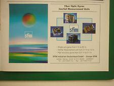 11/1998 PUB SFIM FIBER OPTICS GYROS INERTIAL MEASUREMENT UNITS ORIGINAL AD