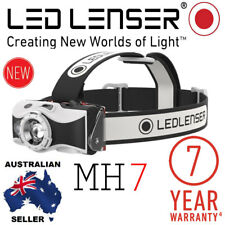 NEW MODEL Genuine Led Lenser Black MH7 Rechargeable Headlamp Authorised Seller