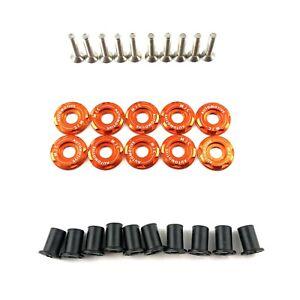 MJC Automotive Honda Civic FN2 Slam Panel Set Orange Fender Washers