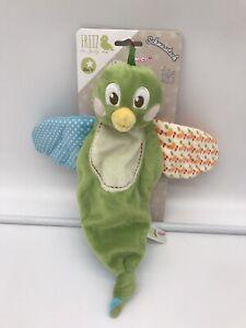 Nici Bird Baby Comforter Baby Blankie Blanket soother doudou soft Green
