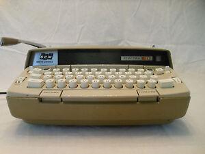 vintage typewriter Smith Corona Electra 120 works case key gold