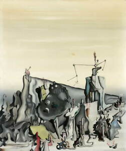 Yves Tanguy Yves Tanguy Untitled Giclee Art Paper Print Poster Reproduction