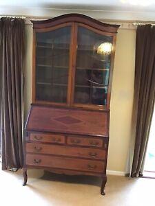 Edwardian Inlaid Bureau / Bookcase / Writing Desk