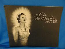 Nursing booklet The Woman in White 1938 a radio program honoring nurses Pillsbur