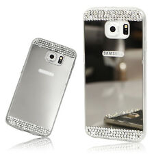 Slim Shiny Mirror Bling Diamante Rhinestone Crystal TPU Silicone Case Cover