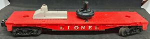 Lionel:  Red Satellite Launching FLAT-Car. VINTAGE O GAUGE