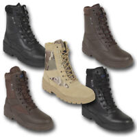 PATROL COMBAT BOOTS LEATHER SUEDE ARMY TACTICAL MILITARY BLACK BROWN DESERT