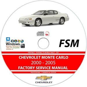 Service Repair Manuals For Chevrolet Monte Carlo For Sale Ebay