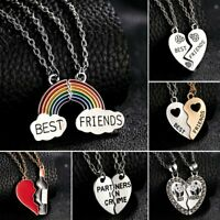 Best Friends Stainless Steel Set Chain Stitching Pendant Necklace Couple Jewelry