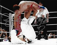 Kazushi Sakuraba & Royce Gracie Signed 8x10 Photo PSA/DNA COA Pride FC UFC Auto