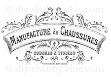 Furniture Decal Image Transfer Vintage Shabby Chic French Show Shop Factory Art