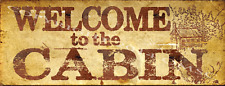 Welcome to The Cabin Metal Signs, Country Decor, Cabin Decor