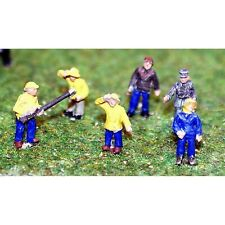 Painted 6 Fisherman/Trawlermen Figures (N scale 1/148th) - Langley A107p