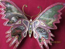"Thomas Kinkade Bradford Exchange On Wings of Beauty Butterfly -""Bridge Of Faith"""