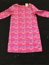 NWT Vineyard Vines Girls Watercolor Whale Tail Tunic Dress Pink Sherbet Size S